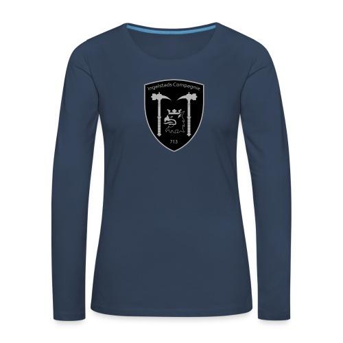 Kompanim rke 713 m nummer gray ai - Långärmad premium-T-shirt dam