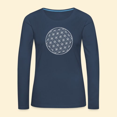 Lebensblume - Frauen Premium Langarmshirt