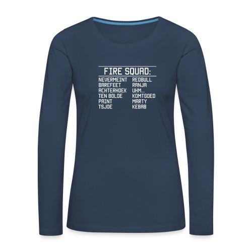 8DArmyTekst v001 - Vrouwen Premium shirt met lange mouwen