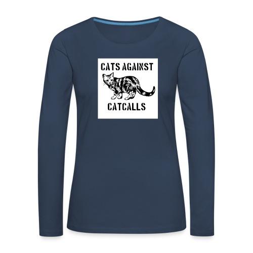 Cats against catcalls - Women's Premium Longsleeve Shirt