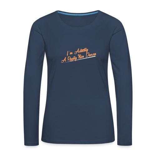 nice-person - Women's Premium Longsleeve Shirt
