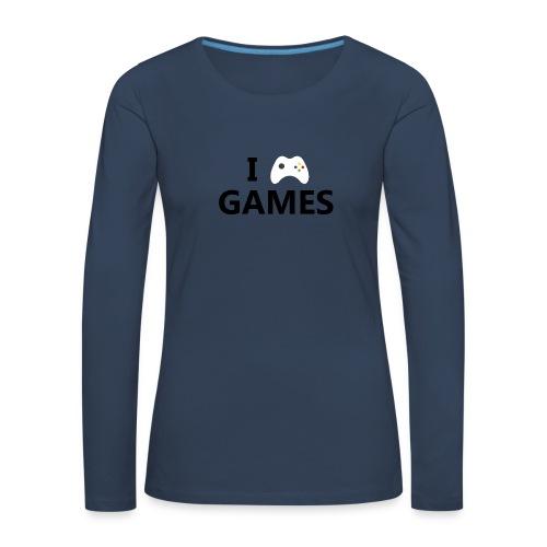 I Love Games - Camiseta de manga larga premium mujer