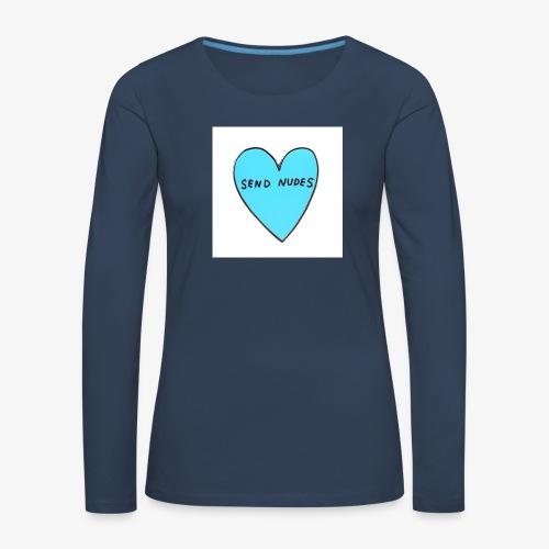 send nudes - Women's Premium Longsleeve Shirt
