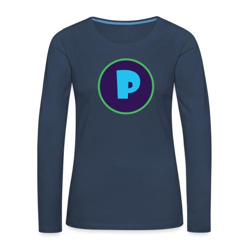 Loga - Långärmad premium-T-shirt dam