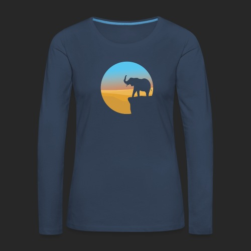 Sunset Elephant - Women's Premium Longsleeve Shirt