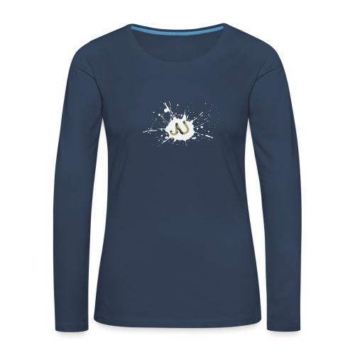 logo2 6 pinkki - Naisten premium pitkähihainen t-paita