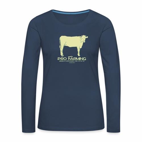 PRO Farming - Maglietta Premium a manica lunga da donna
