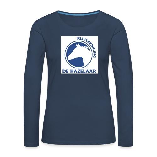 LgHazelaarPantoneReflexBl - Vrouwen Premium shirt met lange mouwen