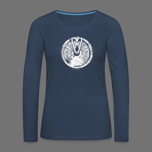 Maschinentelegraph (hvid oldstyle) - Dame premium T-shirt med lange ærmer