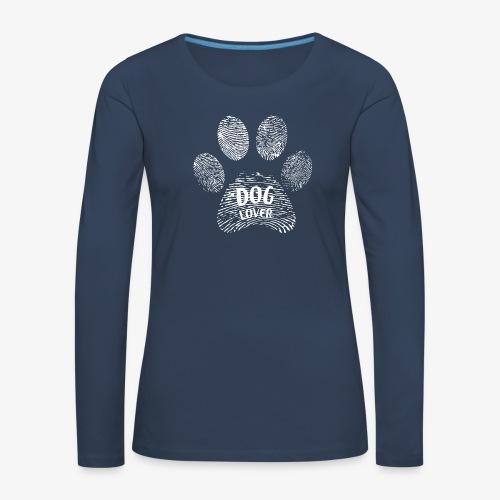 dog lover paw - Frauen Premium Langarmshirt