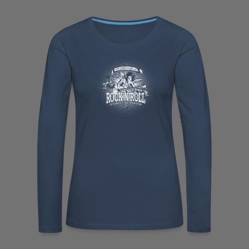 Rock 'n' Roll - Sounds Like Heaven (valkoinen) - Naisten premium pitkähihainen t-paita