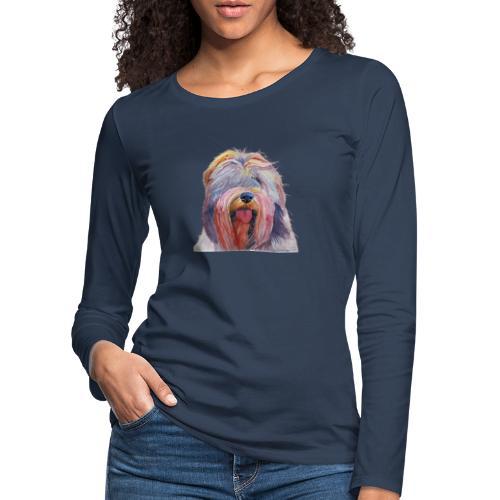 schapendoes - Dame premium T-shirt med lange ærmer