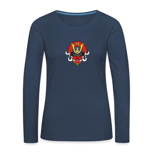 Samouraï Casque Démon - T-shirt manches longues Premium Femme
