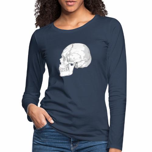 Schädel - Frauen Premium Langarmshirt