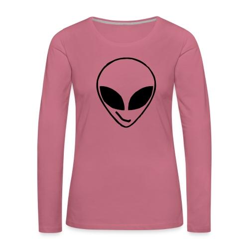 Alien simple Mask - Women's Premium Longsleeve Shirt