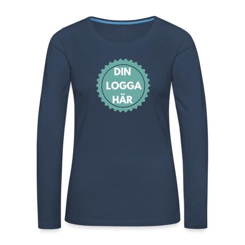 Egen Logga - Långärmad premium-T-shirt dam
