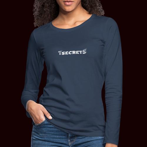 TsecretS white - Frauen Premium Langarmshirt