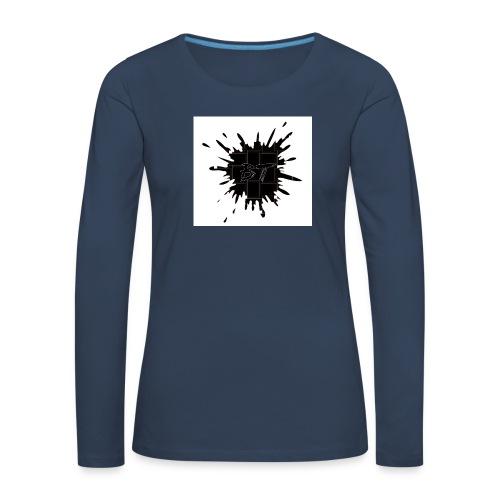 Blacktuber Splash Logo - Vrouwen Premium shirt met lange mouwen
