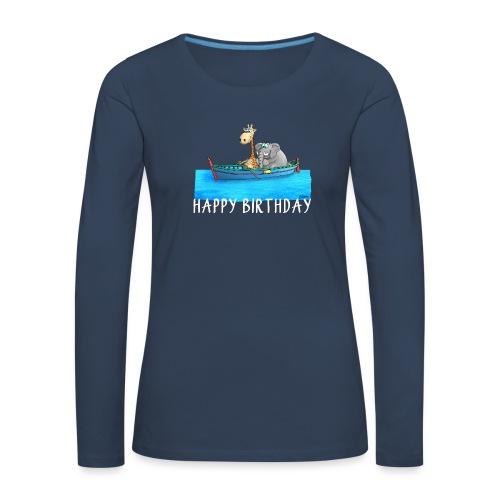 Happy Birthday Angler - Frauen Premium Langarmshirt