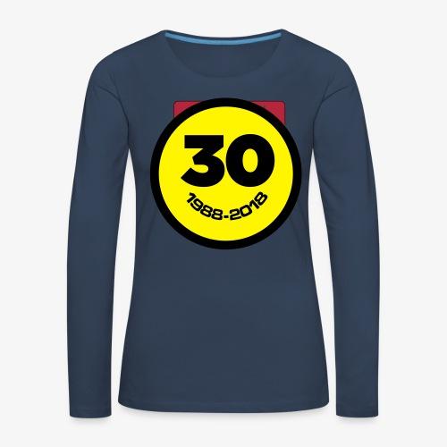 30 Jaar Belgian New Beat Smiley - Vrouwen Premium shirt met lange mouwen