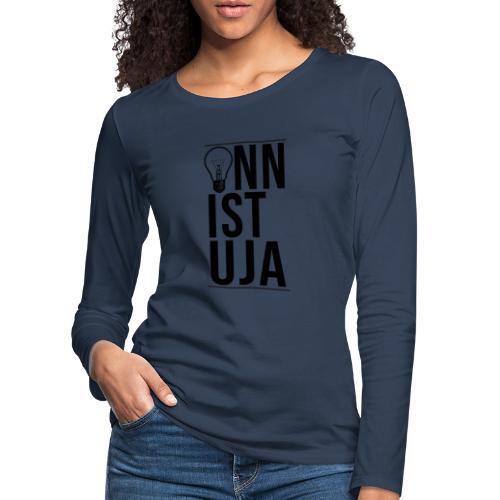 Onnistuja Musta - Naisten premium pitkähihainen t-paita