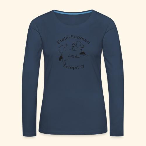 ES seropit logo musta - Naisten premium pitkähihainen t-paita