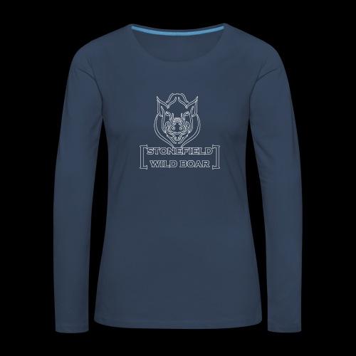 stonfield wild boar png - Frauen Premium Langarmshirt