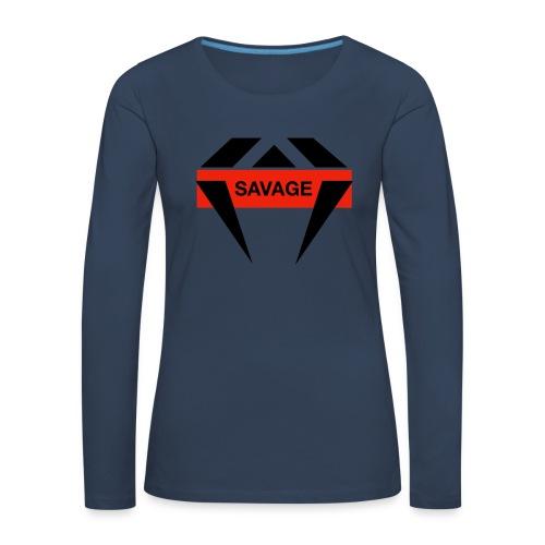 J.O.B Diamant Savage - Frauen Premium Langarmshirt