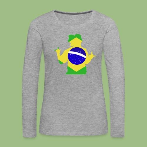 Ronaldinho Brazil - Långärmad premium-T-shirt dam