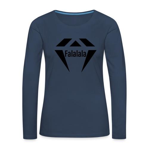 J.O.B Diamant Falalala - Frauen Premium Langarmshirt