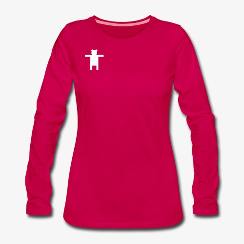 Women's Pink Premium T-shirt Ippis Entertainment - Naisten premium pitkähihainen t-paita