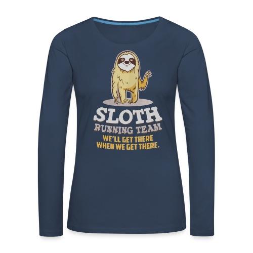 Sloth running team - Women's Premium Longsleeve Shirt