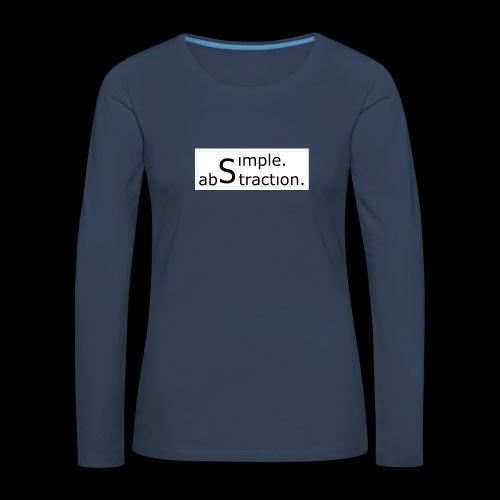 logo simple. abstraction. s/w - Frauen Premium Langarmshirt