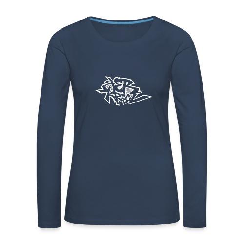 Tag ker kreol Blanc - T-shirt manches longues Premium Femme