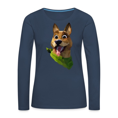 LOW POLY DOGO - T-shirt manches longues Premium Femme
