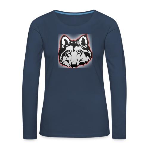 Wolfie (Red) - Women's Premium Longsleeve Shirt