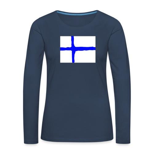 FinishFlag Caps - Premium langermet T-skjorte for kvinner