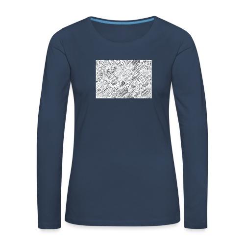 Doodle - Koszulka damska Premium z długim rękawem