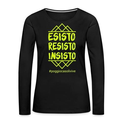 patch resisto - Maglietta Premium a manica lunga da donna
