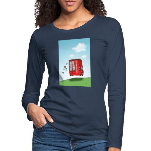 Feuerwehrwagen - Frauen Premium Langarmshirt