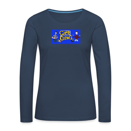 Game Coping Happy Banner - Women's Premium Longsleeve Shirt