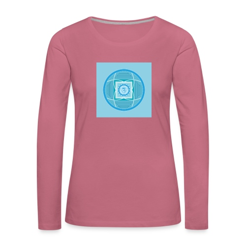 Vishuddha - Throat chakra - Naisten premium pitkähihainen t-paita