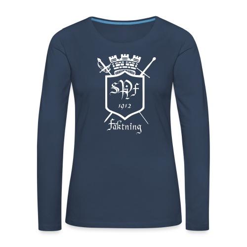 spiff logo white - Långärmad premium-T-shirt dam