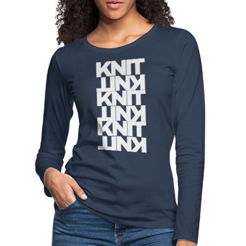 Garter Stitch, light - Women's Premium Longsleeve Shirt