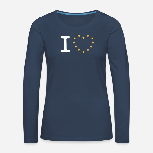 I heart stars - Dame premium T-shirt med lange ærmer