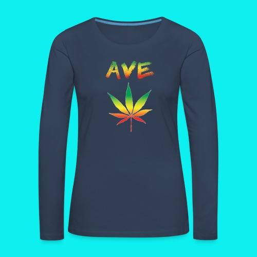 AveMarija - Maglietta Premium a manica lunga da donna