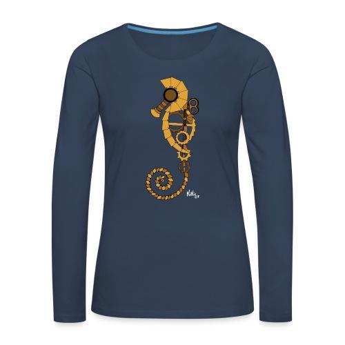 Caballito de mar Steampunk - Camiseta de manga larga premium mujer