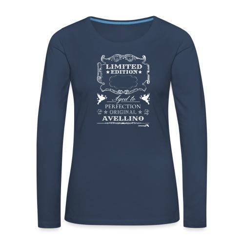 1.01 Invecchiato per Perf. AV B (Inserisci anno al centro) - Maglietta Premium a manica lunga da donna