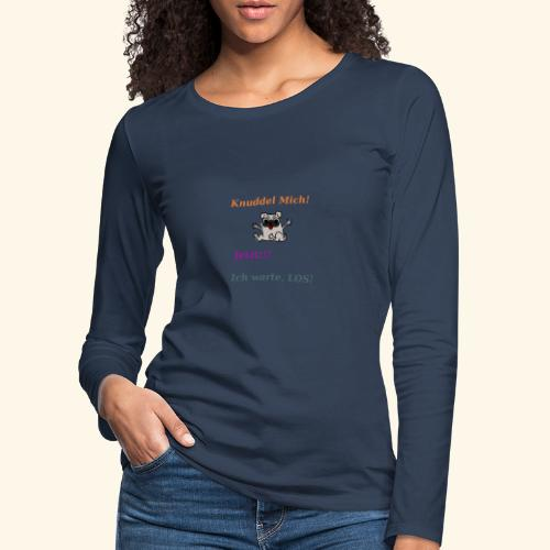 Hunde Knuddeln - Women's Premium Longsleeve Shirt
