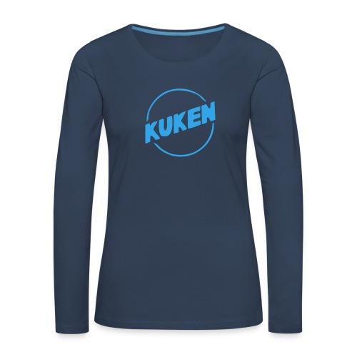 Kuken - Långärmad premium-T-shirt dam